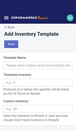 Create Templates in app - Mobile View