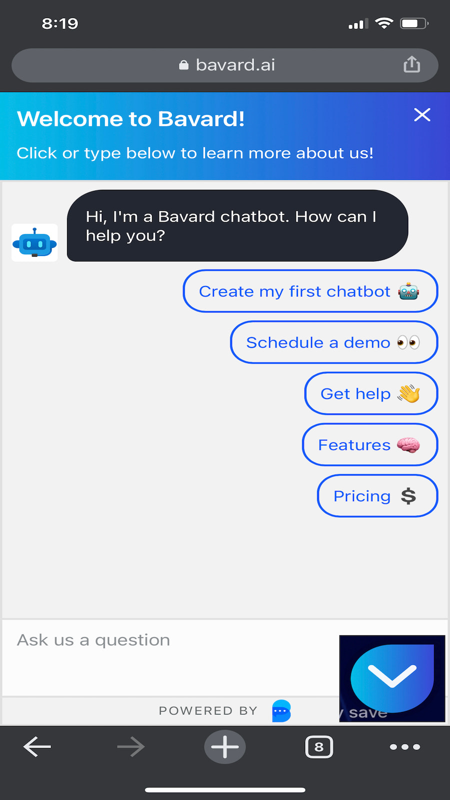 Mobile Friendly Chat Experience