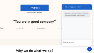 A simple live chat which helps customers to get quick answers