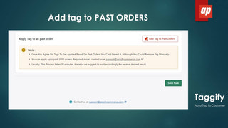Add tag to Past Orders