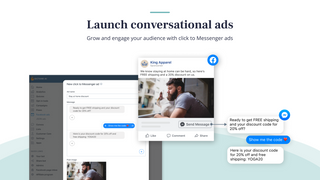 Launch conversational facebook ads to messenger