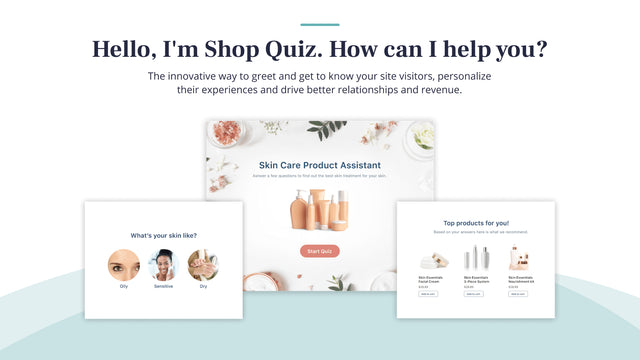 Use Shop Quiz to recommend the right products and collect data