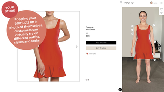 Let customers design an outfit on a photo of themselves