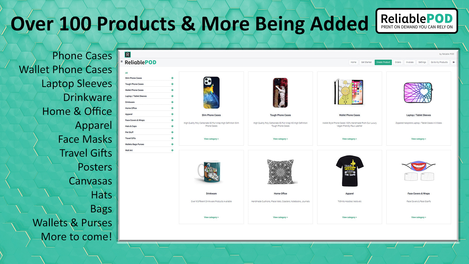 Over 100 Products To Choose From & More Being Added Every Month