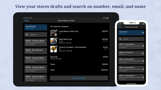 View your stores drafts and search on number, email, and name