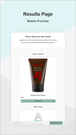 Product Recommendations Results Page