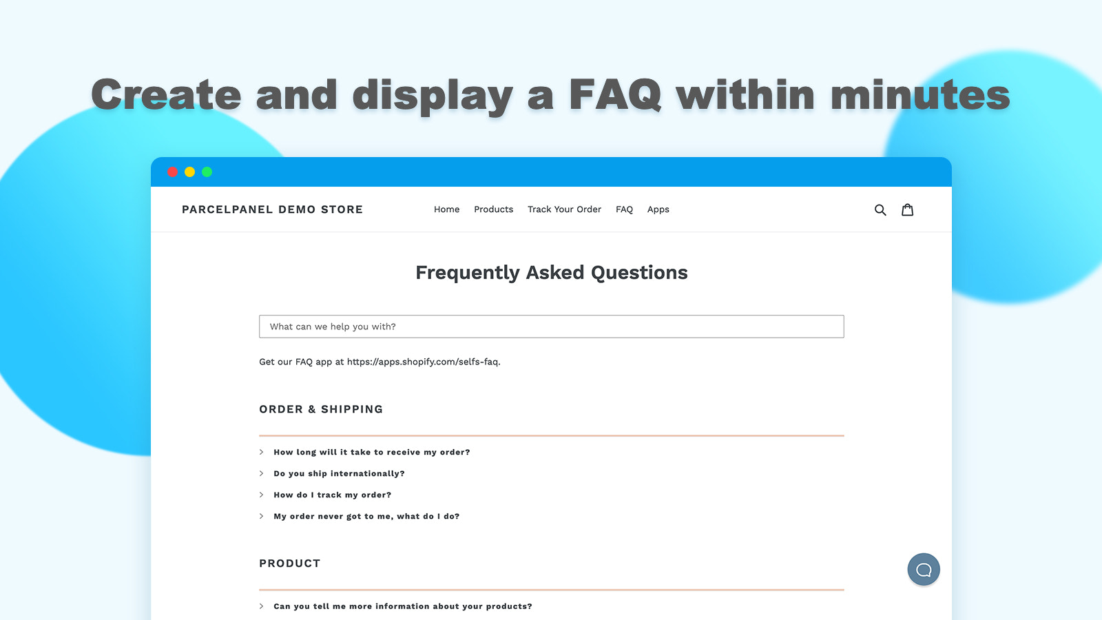 Create FAQ page in minutes