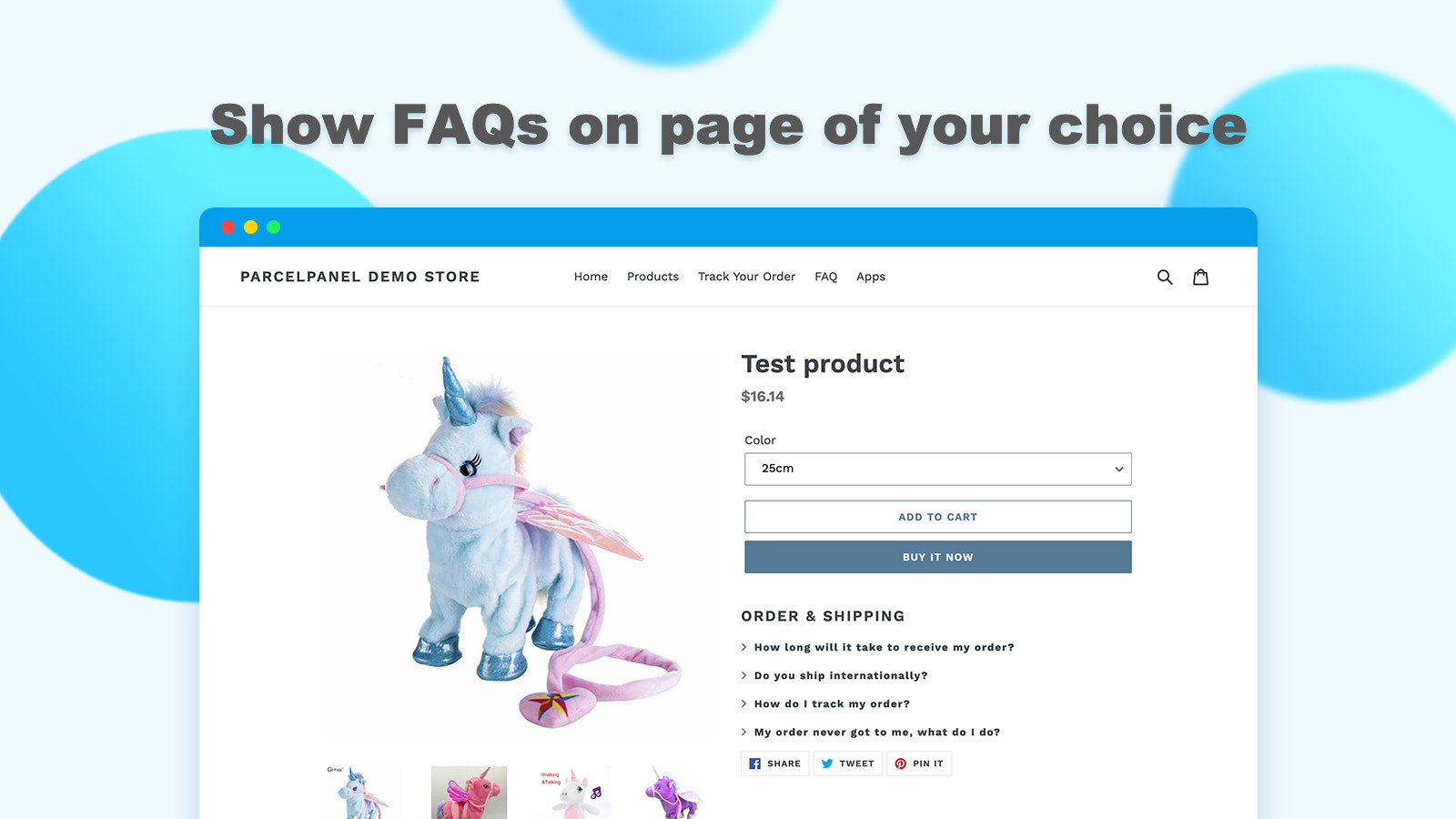 Show FAQs on page of your choice