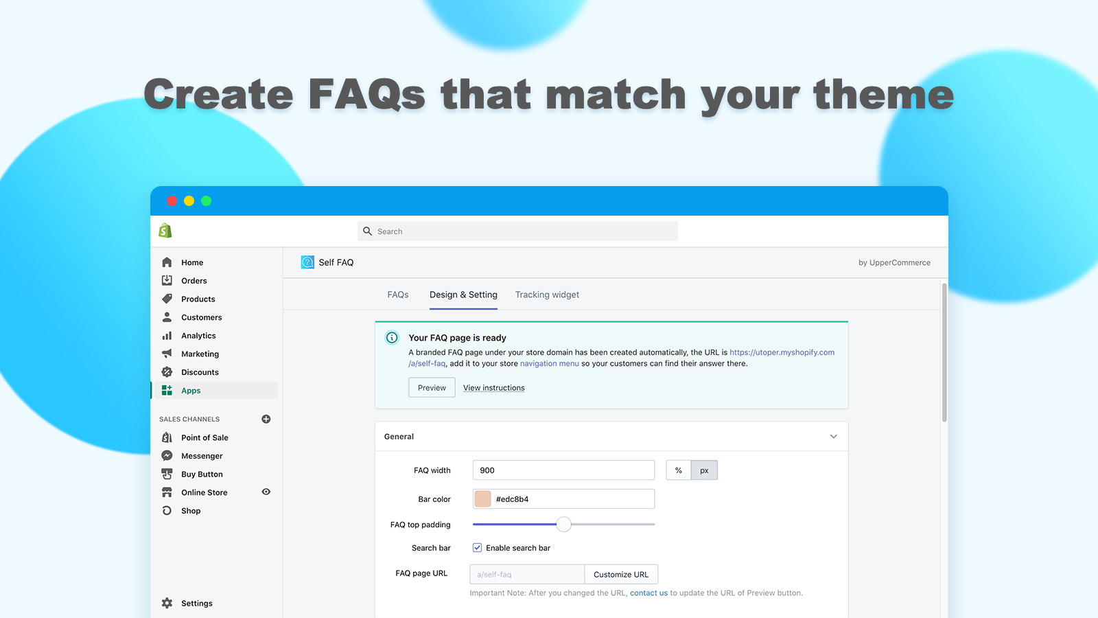Design your own FAQ page