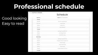 Timetable Shopify app schedule for yoga, pilates, gym classes