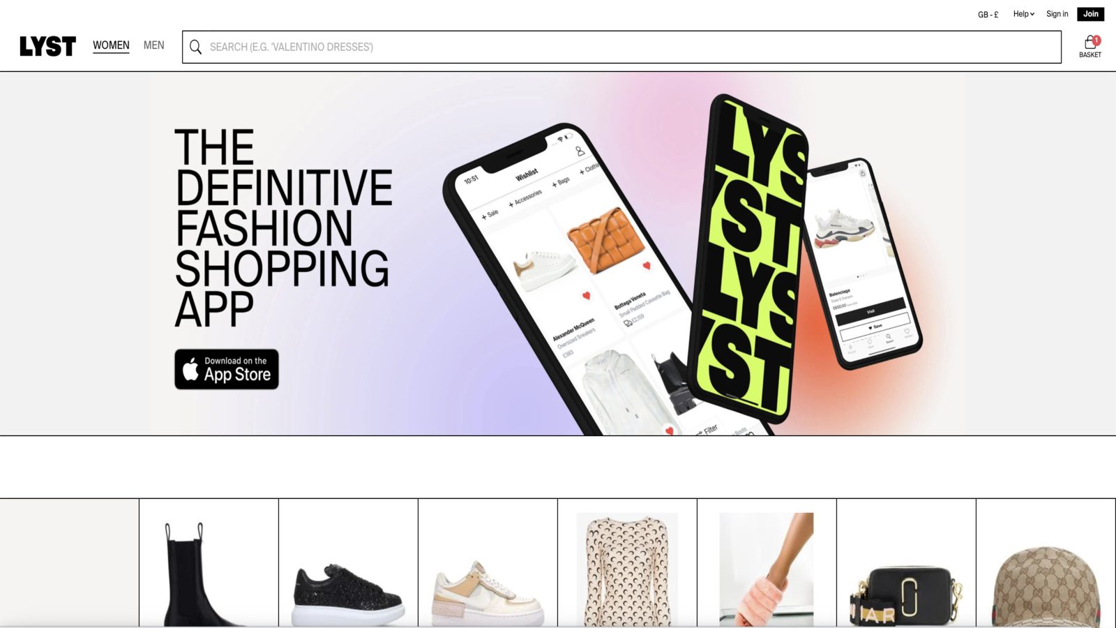 Lyst Home Page