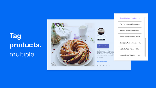 Shoppable Instagram Feed - Instagram shopping tags