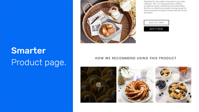 Shoppable Instagram Feed: Product page