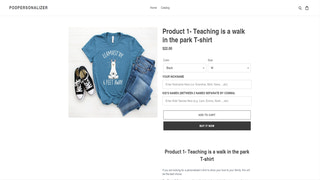 preview product  - sales page interface