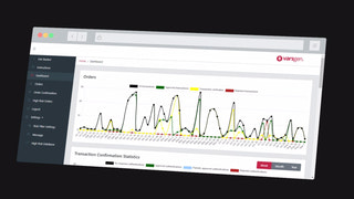 Dashboard with different types of statistics
