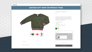 Display Zestard Gift Wrap on product page
