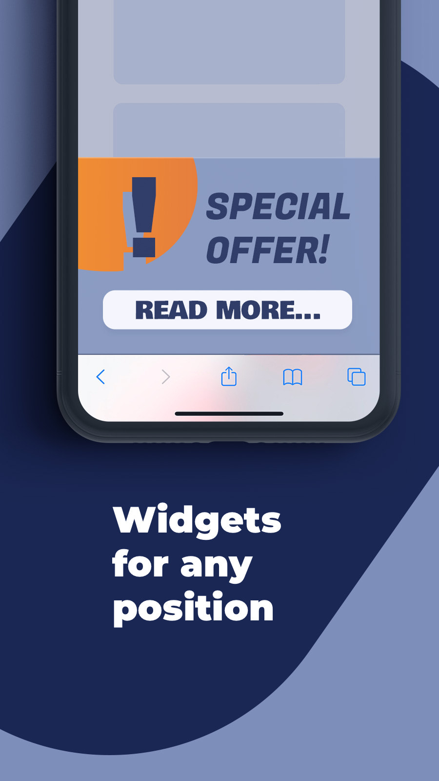 Widgets for any position