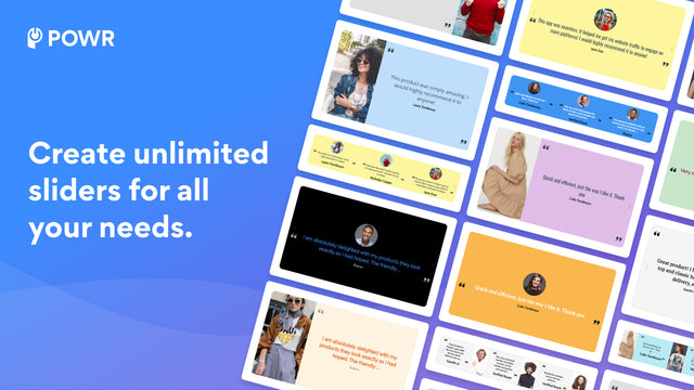Add testimonial banners to your site in a slideshow.