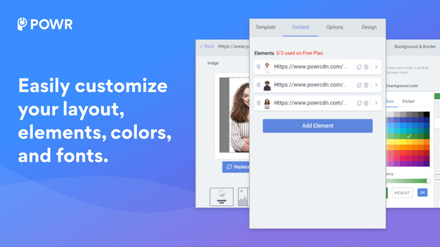 Customize your slideshow layout, colors and more.
