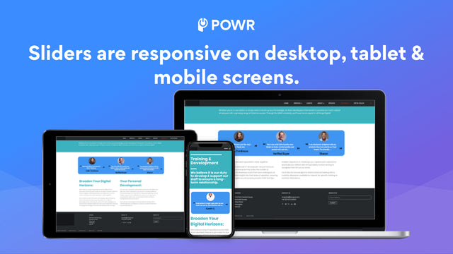 Testimonials Slider is responsive on any device.