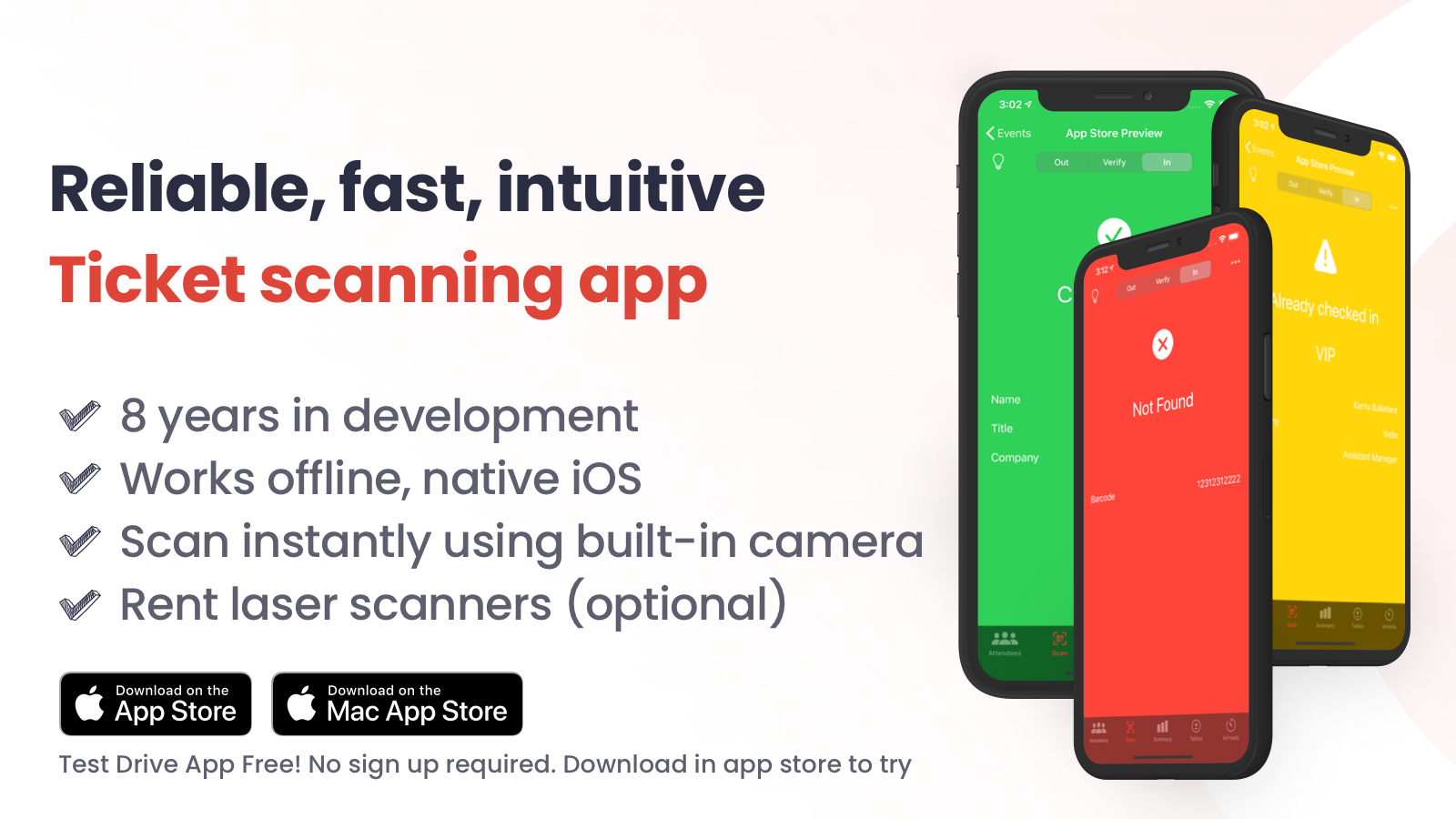 shopify event check in app ticket scanner