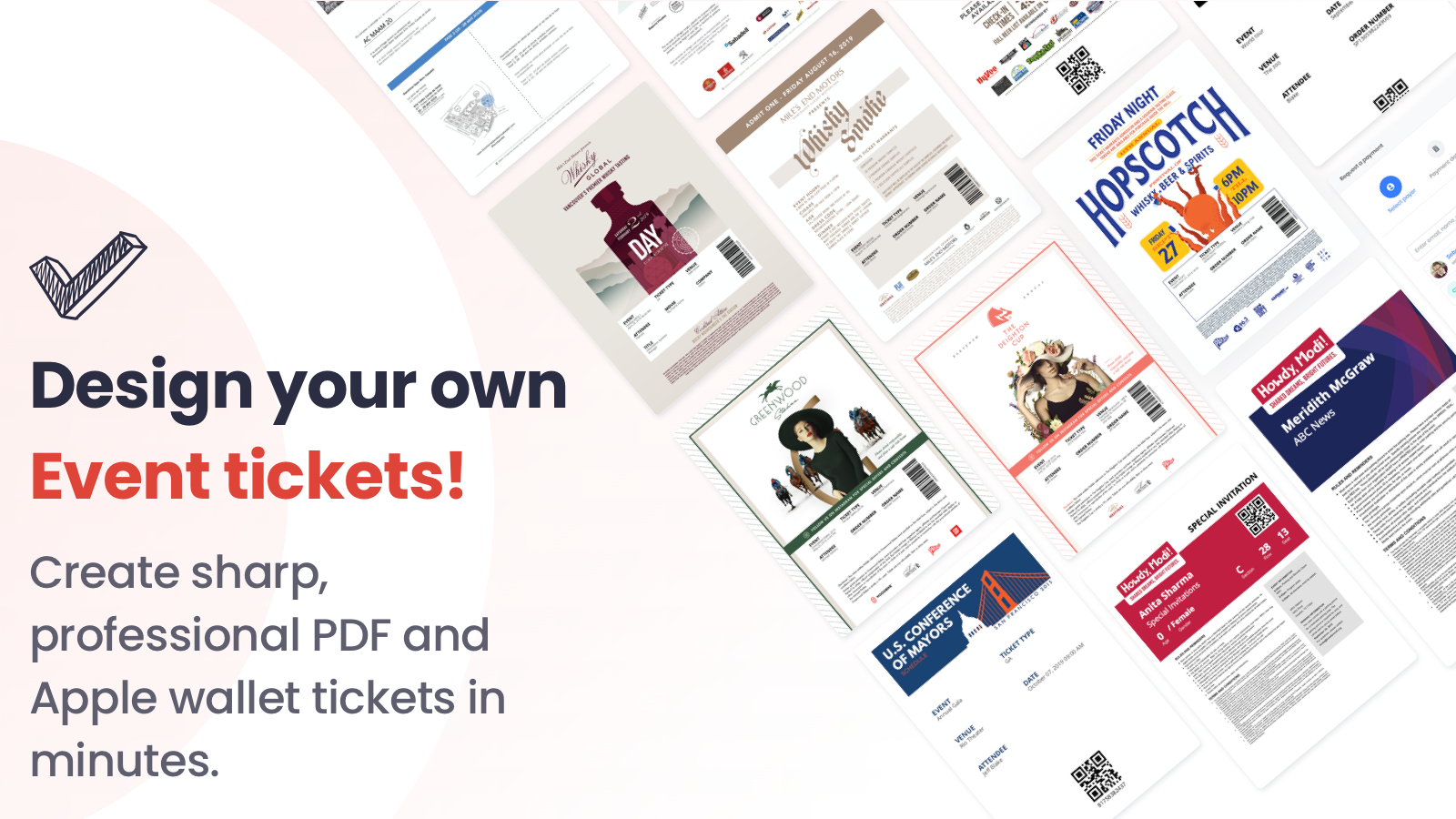 Design and brand your own PDF and Apple wallet tickets