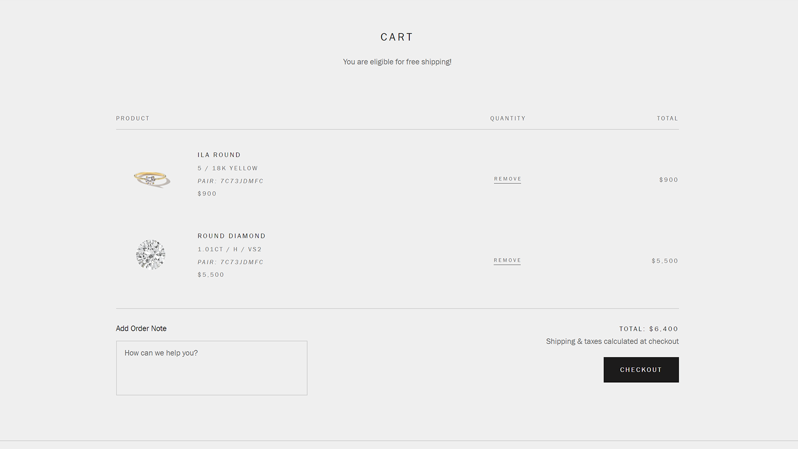 Integrates with your shopping cart instantly