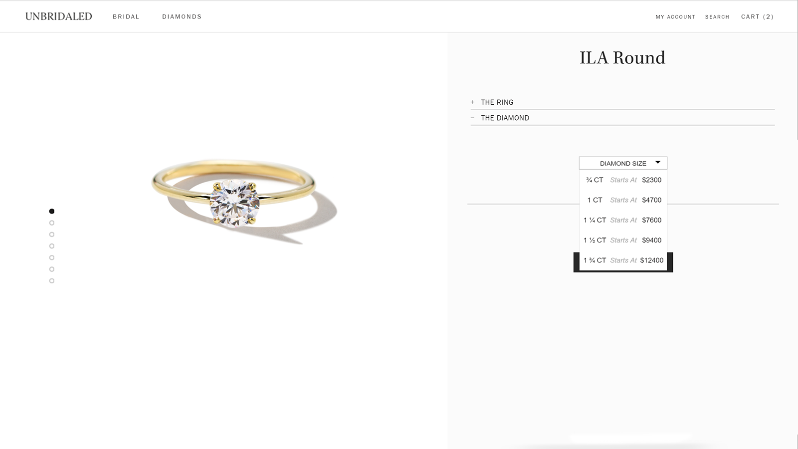 Sell your designs in different diamond sizes.