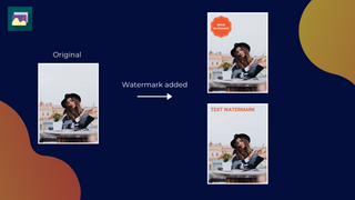 Add text-based watermark to images