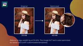 Reduce image size by up to 50%