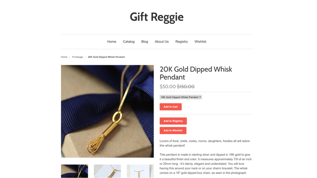 Add to Registry and Add to Wishlist buttons on your product page