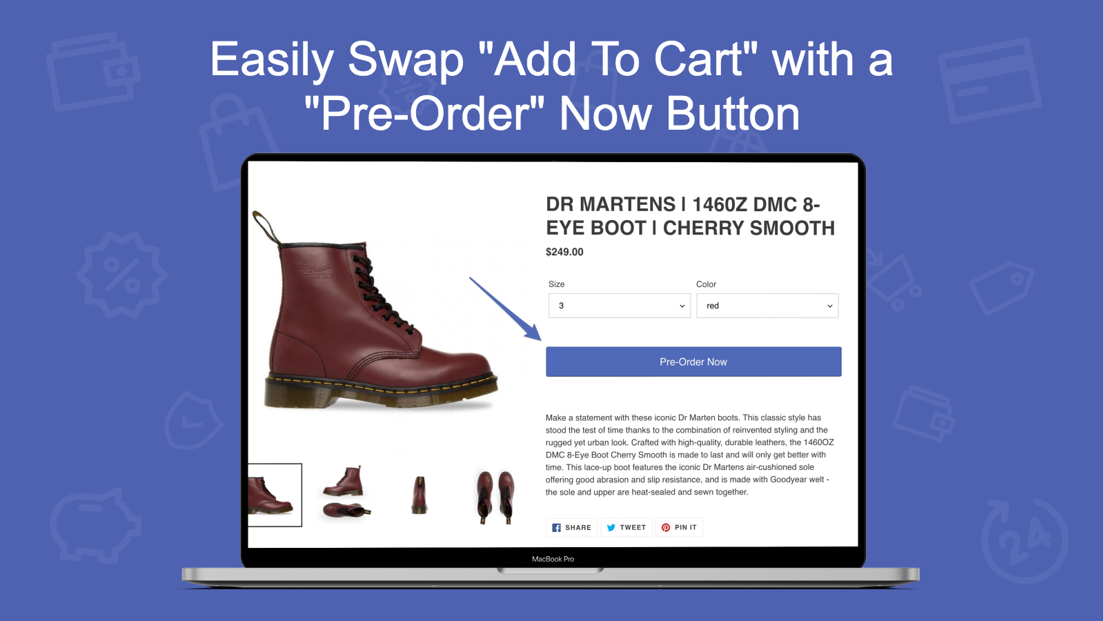 Preorder Boss Swap with Pre-order button for out of stock items