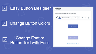 Preorder button design for preorder shopify app