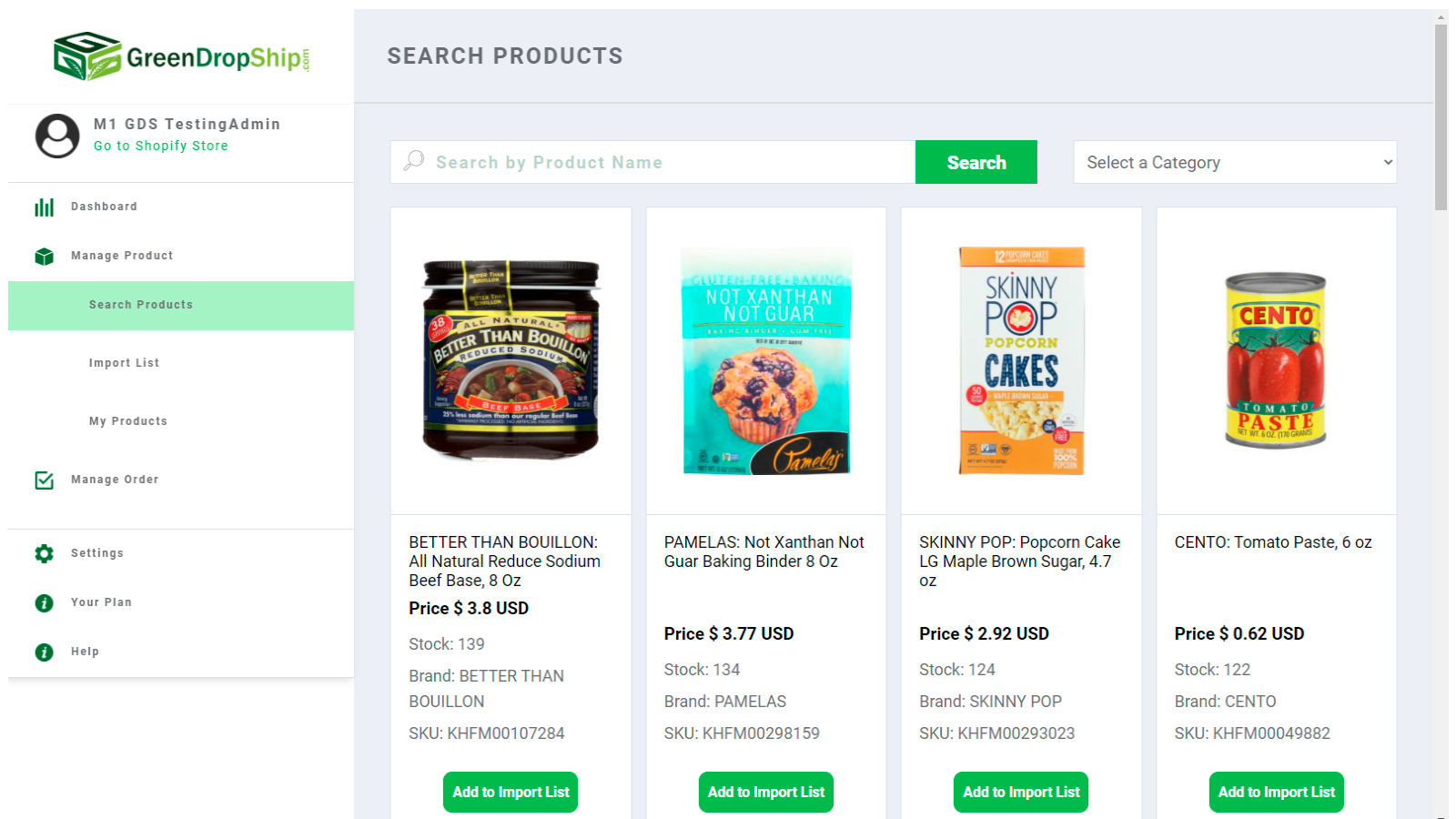 Brand-Name Natural Grocery Products