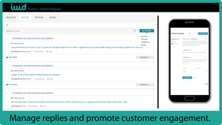 Manage replies and promote customer engagement.
