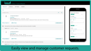 Easily manage and view customer requests.