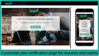Customize your verification page for requests and replies.