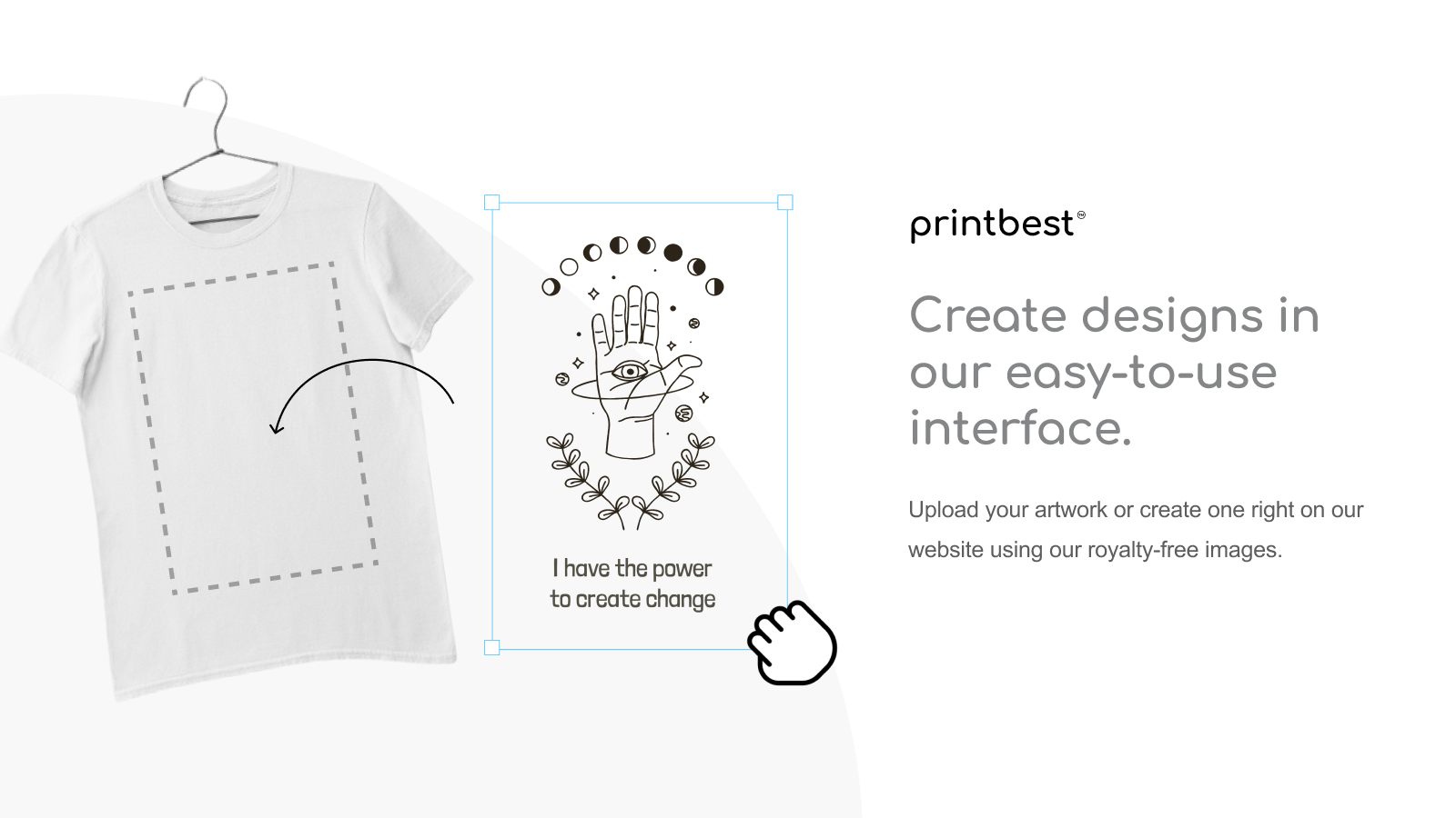 Create designs in our easy-to-use interface