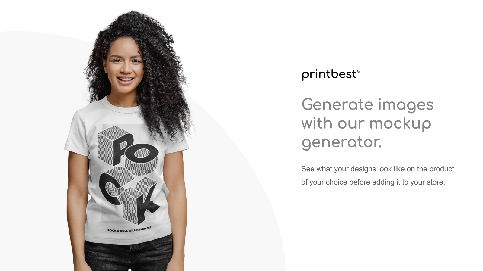 Generate images with our mockup generator