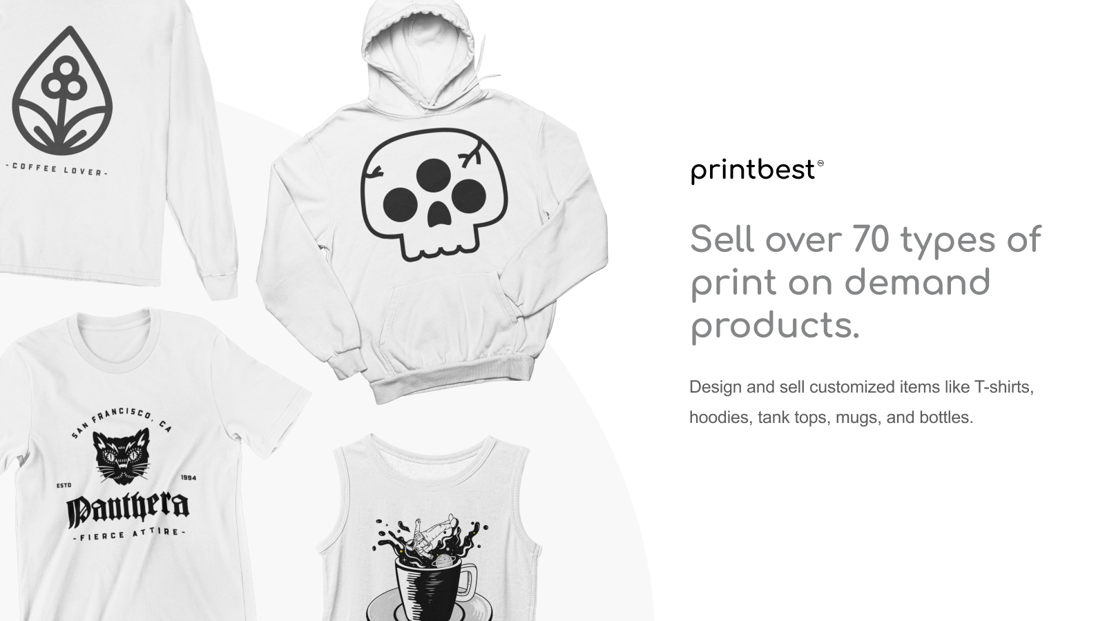 Sell over 70 types of print on demand products
