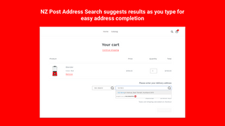 Address search and completion