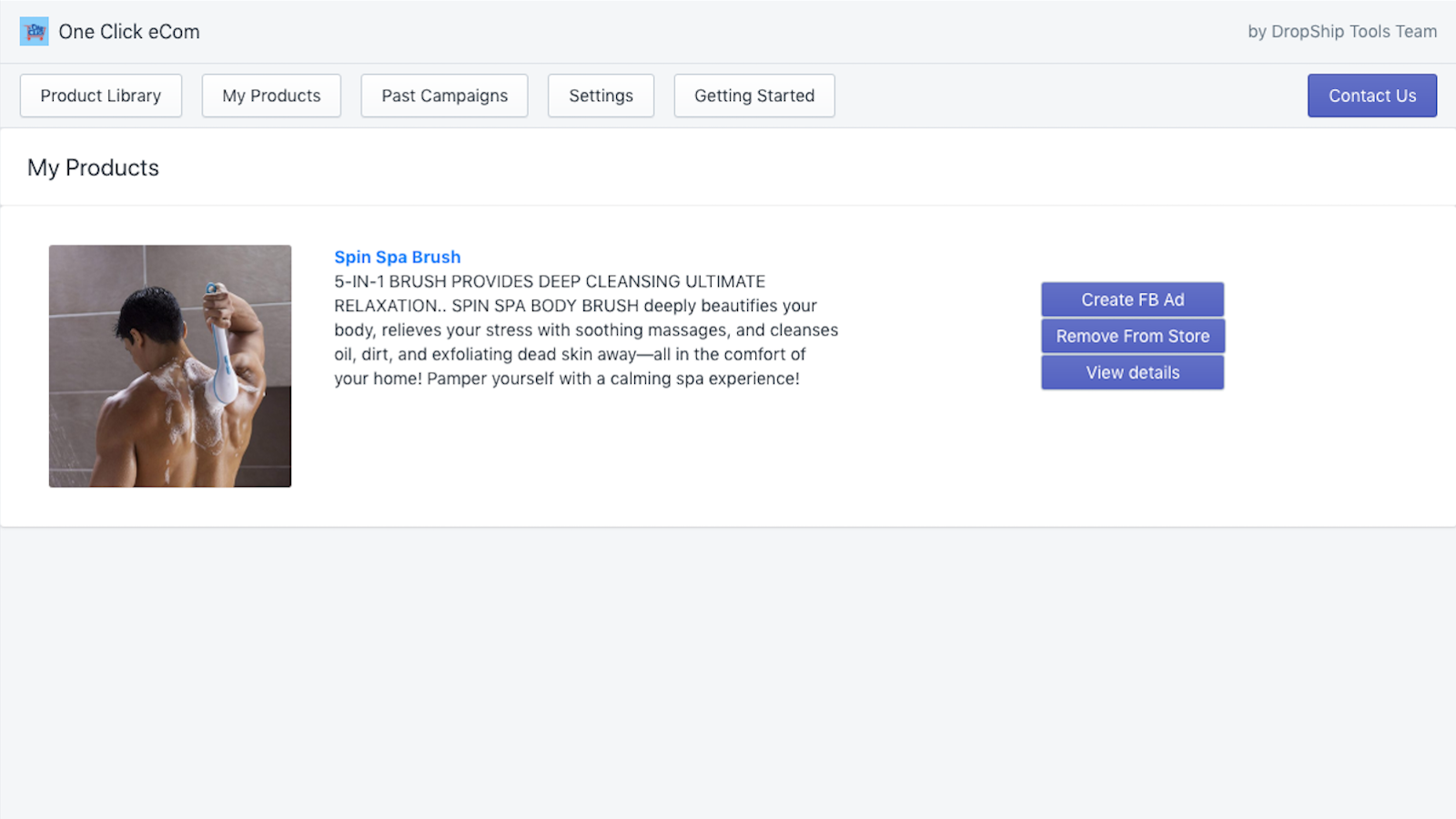 Manage the products added to your store