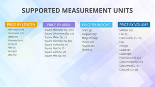 Supported Measurement Units