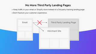 No more third party tracking landing pages.