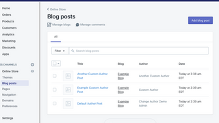 Custom authors show on the Shopify admin panel