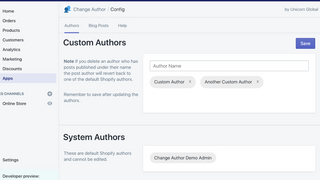 Easily configure multiple custom authors