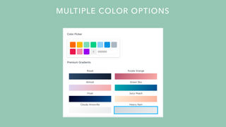Multiple color picker for your sidebar