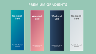 Premium announcement designs