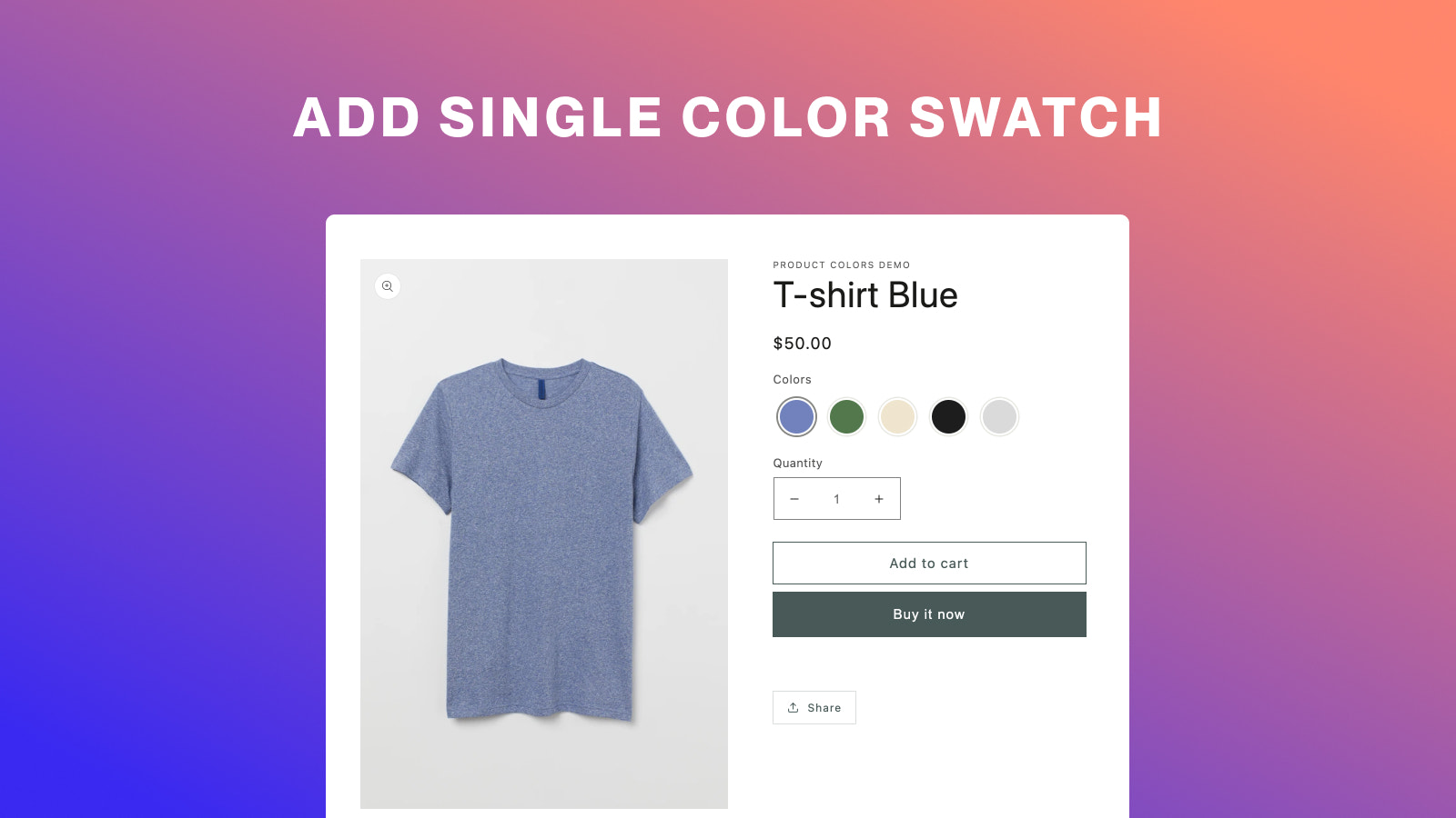 Add single color swatch