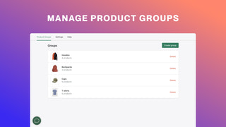 Manage product groups